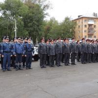 После общегарнизонного инструктажа наряды ППС сразу приступили к охране общественного порядка.