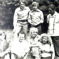 Члены ЛиТО на отдыхе (1970-е годы).