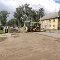 Идут работы на ул.Мусинского.