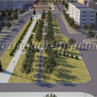 Так по проекту выглядит центральный сквер.